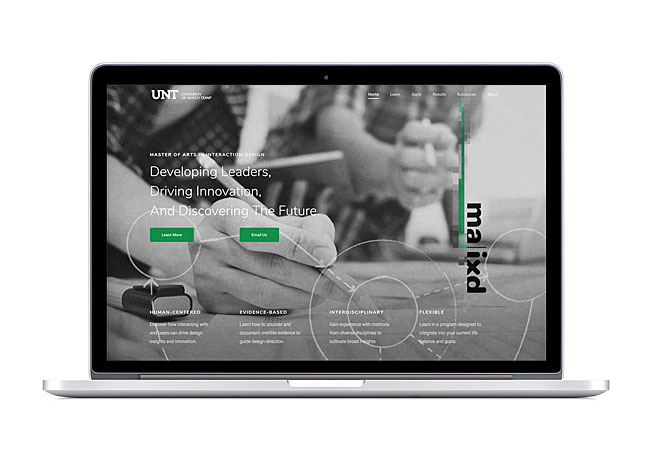 UNT MA in Interaction Design Website